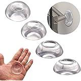 Topes para Puertas Pared Manilla (4 Unidades) - Tope Puerta de Silicona Transparente Amortiguador de Golpes - Adhesivos Reuti