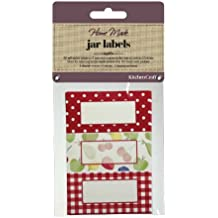 Kitchen Craft - Etichette adesive per barattoli di marmellata in vetro, 3 fantasie diverse
