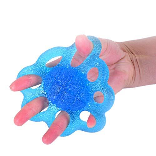 Finger Kraft Übungstrainer Training Stretcher Handtherapie-Übungsball, Hand-Rehabilitations-Olive geformt, Finger-Trainingsgerät, Griffverstärkung und Stressabbau -