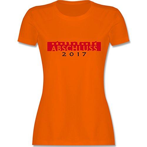 Abi & Abschluss - Abschluss 2017 - tailliertes Premium T-Shirt mit Rundhalsausschnitt für Damen Orange