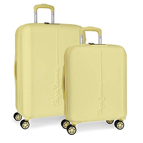 Maletas amarillas Pepe Jeans - Juego de 2 Maletas, 70 cm