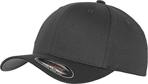 Flexfit 6277 Wooly Unisex Combed Cap, darkgrey, Youth