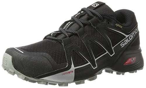 Salomon Speedcross Vario 2 GTX, Scarpe da Trail Running Impermeabili Uomo, Nero (Phantom/Black/Monument), 47 1/3 EU