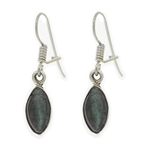 Nova Silver Bemine Small Marquise Labradorite Earrings