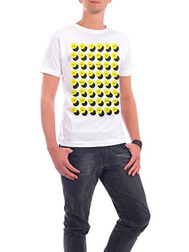 """Design T-Shirt Männer Continental Cotton """"Yes-No-Maybe"""" - stylisches Shirt Typografie Geometrie von Doozal Collective Weiß"""