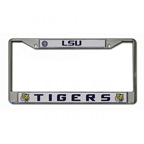 Louisiana State LSU Tigers NCAA Chrome License Plate Frame by SportsMagicK