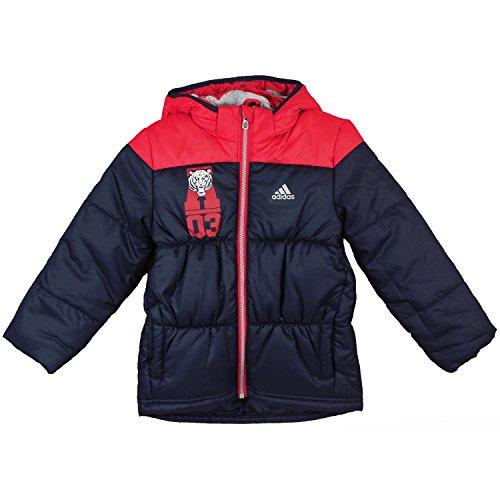 adidas LB J Padded Jacket AB4683 Unisex - Kinder Kinderjacke/Steppjacke/Winterjacke Blau 122