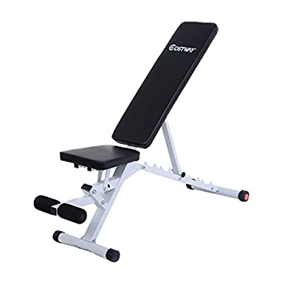 Weight Bench Fully Adjustable FID Flat Incline Utility Bench Fitness Multi Angle Home Gym Training from GYMAX
