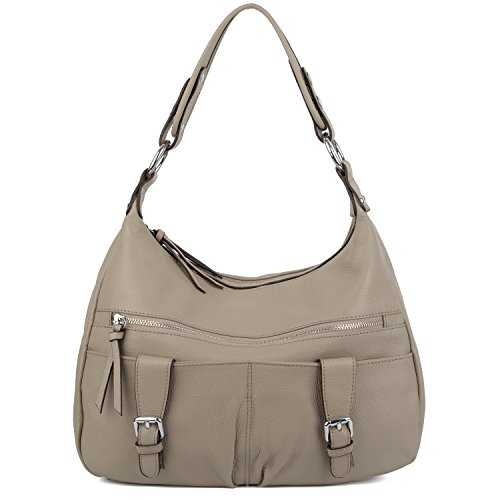yaluxe-women-ladies-soft-cowhide-leather-hobo-shoulder-bags-with-front-pockets-grey