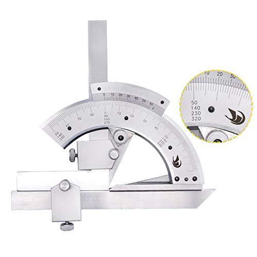 Multifunktions-Winkel-Lineal, Metall-Angleizer-Schablonen-Werkzeug, Vollmetall-Messregeln, 0-320 ° Nonius-Winkel-Lineal, abnehmbar -