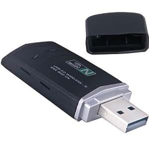Daffodil LAN02 - Wifi Adapter Stick - USB WLAN Empfänger - Hi-Speed 300mbps N Class Netzwerk Dongle