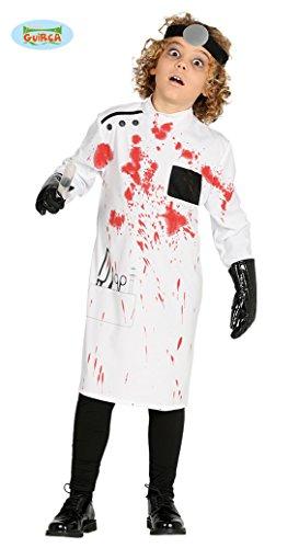 g Arzt Kostüm für Kinder Horror Doktor Blutiger Kittel Gr. 98 -146 , Größe:140/146 ()