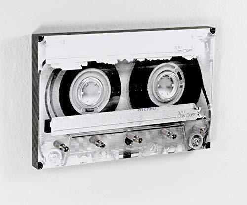Schlüsselbrett Tape | Kassette | Musik | 5 Haken | Vintage Tape | Hakenleiste | Flur | Aufbewahrung Schlüssel | Ordnung | Umzug | Geschenk