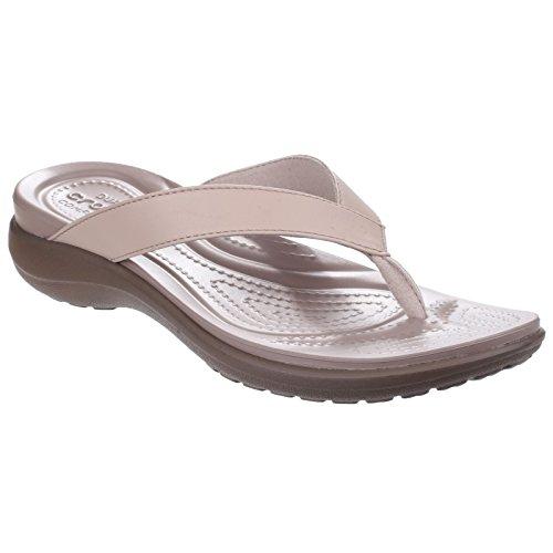 crocs Damen Capri V Sommer Flip Flops (34-35 EU) (Chai/Walnuss) (Flip-flop-bilder)