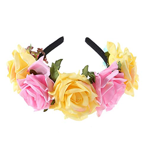 Halloween Flamenco Tänzerin Kostüm - Lyguy, Blumen-Haarband, mexikanische Rose, Blumen-Haarband, kontrastierende