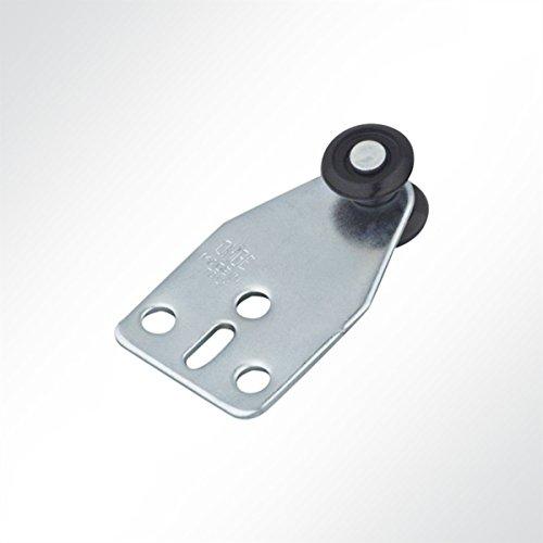 Laufrolle Führungsrollen Laufwagen Rollenlaufwerk Nylon mit Kugellager für Laufschiene 25x19mm Schiebetor (10 Stück)