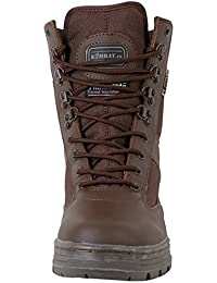 Mens Combat Military Army Patrol Hiking Cadet Work Brown Leather Boot All Sizes (UK 5)