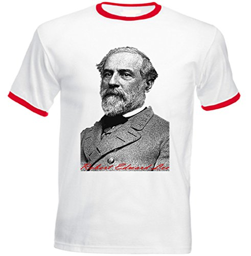 Teesquare1st Men's LEE ROBERT EDWARD Red Ringer T-shirt