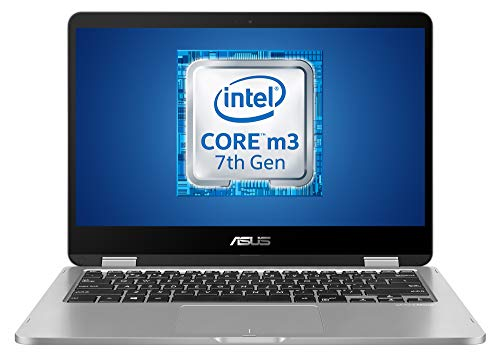 Asus TP401CA-EC108T Notebook con Monitor 14FHD LTE Glare, Touchscreen, Intel Core M3-7Y30, RAM 4 GB, EMMC da 128 GB, Scheda Grafica Integrata, Windows 10.