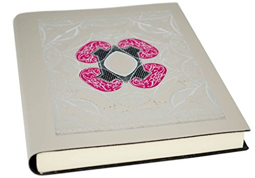 LEATHERKIND Venezia Recyceltes Leder Notizbuch Rokoko-silber, A5 Blanko Seiten - Handgefertigt in Italien -