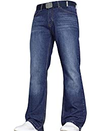 a7ad784f96927d Von Denim Men's Wide Leg Bootcut Flared Blue Heavy Denim Jeans in All Waist  and Sizes