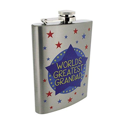 Worlds Greatest Granded-Fiaschetta in acciaio INOX in scatola di presentazione dalla collezione Leonardo