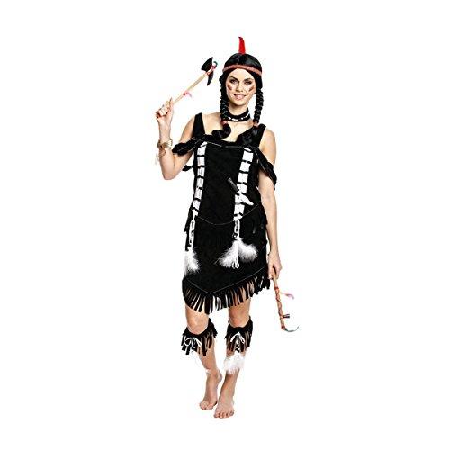 Kostümplanet® Indianerin-Kostüm Damen Indianer-Kostüm Wilder Westen Größe 44/46