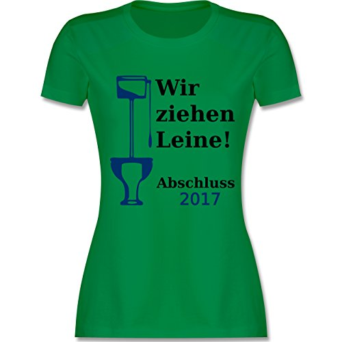 Abi Abschluss Wir ziehen Leine Abschluss 2017 tailliertes Premium TShirt  mit Rundhalsausschnitt für Damen Grün