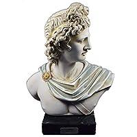 Apollo – Escultura Busto antiguo dios griego de sol y poesía gran artefacto