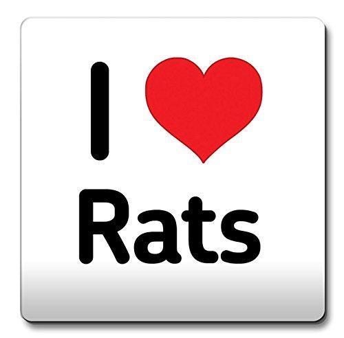 Untersetzer Ton Christmas Geschenk Idee nicht - ich liebe witzige Kaffeetasse Herz aus Ratten (Ratten Liebe)