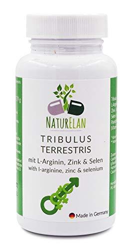 Tribulus Terrestris integratore - 90 capsule con L-arginina, zinco e selenio - testosterone integratore - sperma - tribulus for woman - meno fatica - metabolismo energetico - con 40{e9baa4bc4e84eb4fb8b35439eea51e43823347c443f7826d90644948beef0f99} di Saponine