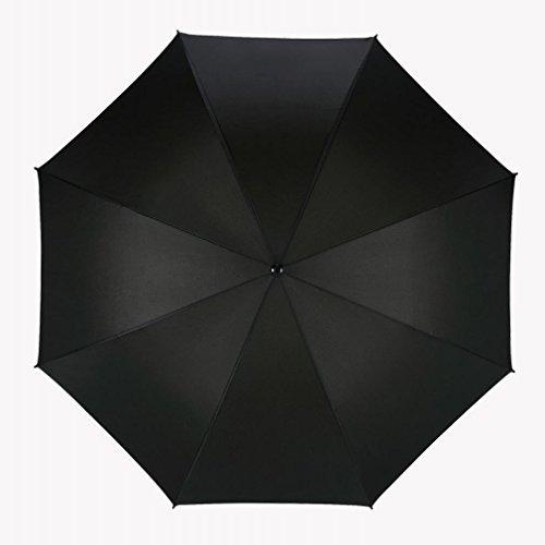 Parapluie de Golf Parapluie Publicitaire Automatique à une Couche de Golf 30 Pouces à Manier,Noir,30 pouces