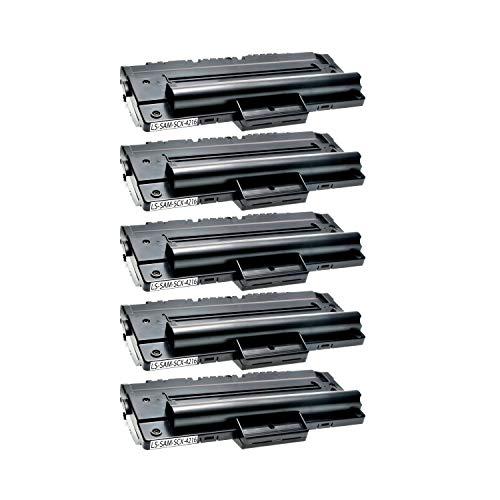 5 Toner kompatibel für Samsung SCX-4216FN 4214F 4166 4016 SF-560 565P 750 755P CF 560 750 Msys 7500 Series 755P -SCX-4216D3/ELS - Schwarz je 4.000 Seiten -