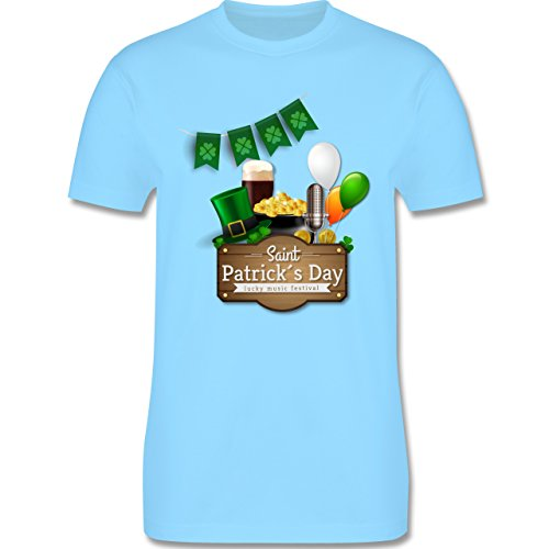 Festival - Saint Patrick's Day Happy music festival - Herren Premium T-Shirt Hellblau