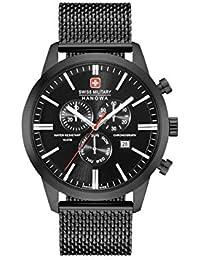 Swiss Military Hommes Chronographe Quartz Montre avec Bracelet en Acier Inoxydable 06-3308.13.007