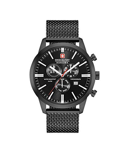 Swiss Military Herren Chronograph Quarz Uhr mit Edelstahl Armband 06-3308.13.007