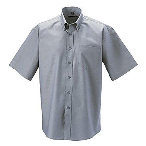Russell - camicia classica manica corta - uomo (collo 49cm, petto 122-127cm) (argento)