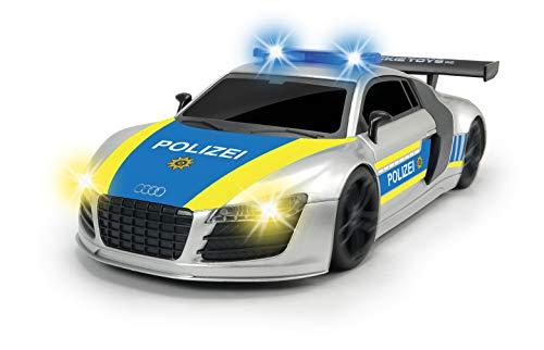 Dickie Toys 201119154 RC Police Patrol, RTR 201119154-RC, ferngesteuertes Fahrzeug mit versch. Licht-& Soundeffekten, Silber/blau/gelb