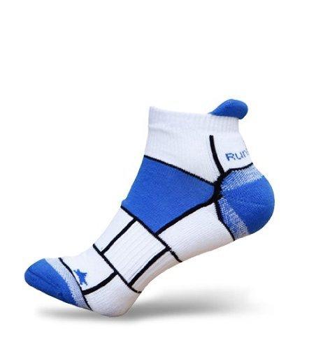 2er Pack RunBreeze Anti-Blasen Laufsocken mit niedrigem Schnitt und der einzigartigen Doppelschicht Technologie für Männer und Frauen, blau (L - 43-46 EUR) (Coolmax-läufer)