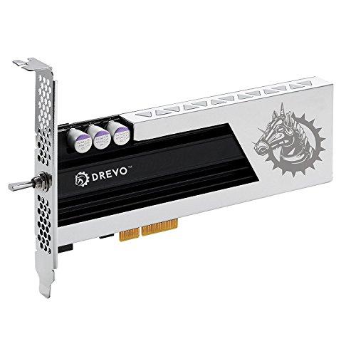 DREVO ARES 256GB HHHL PCIe MLC SSD NVMe Memoria a Stato Solido con Radiatore Lettura 1400MB/S Scrittura 600 MB/S