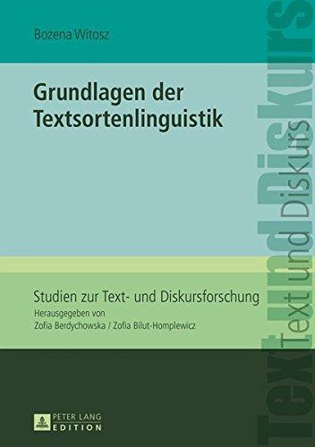 Grundlagen der Textsortenlinguistik (Studien zur Text- und Diskursforschung, Band 13)