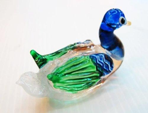 Sammlerstück Kleinkunst MUNDGEBLASENE Glas Ente L FIGURINE Collection (Frosch-figuren Sammlerstücke)