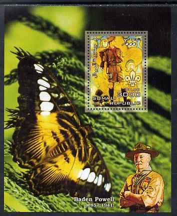 Somalia 2006 Scouts & Butterflies #4 perf s/sheet u/m (Scout image by Norman Rockwell) SCOUTS BUTTERFLIES ROCKWELL JandRStamps -