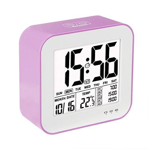 VADIV Despertador Reloj Digital Gran Pantalla LCD