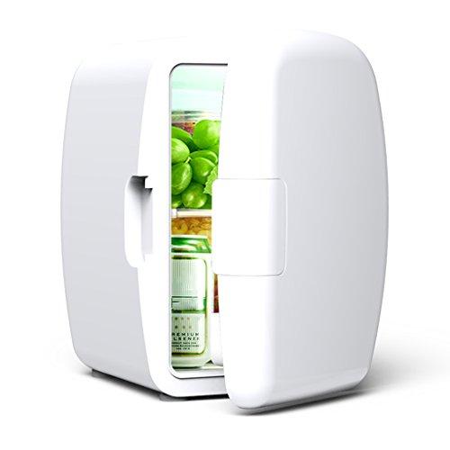 Sunjun 6L Silent Mini Kühlschrank Kühler und Wärmer, Auto und Heimgebrauch ( Farbe : Weiß )