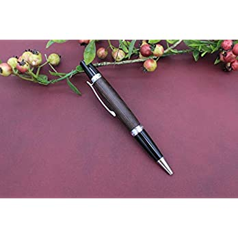 Edler Handgedrechselter Dreh Kugelschreiber aus Holz Wenge Absolutes Unikat