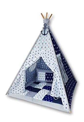 Amilian Tipi Spielzelt Zelt für Kinder T06 (Spielzelt mit der Tipidecke und...