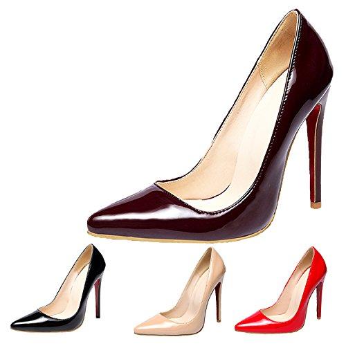 Femme Qvg7ft Daim Pour Escarpins Nonbrand Rouge 1qzPxp