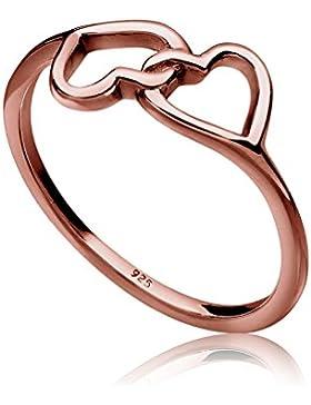 Elli Damen-Ring Herz filigran 925 Silber