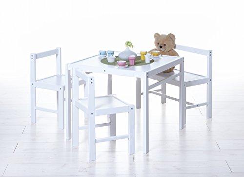 Preisvergleich Produktbild TICAA Kinder Tischgruppe 4-teilig, verschied. Farben